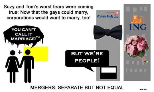 Mergers aren't marriage