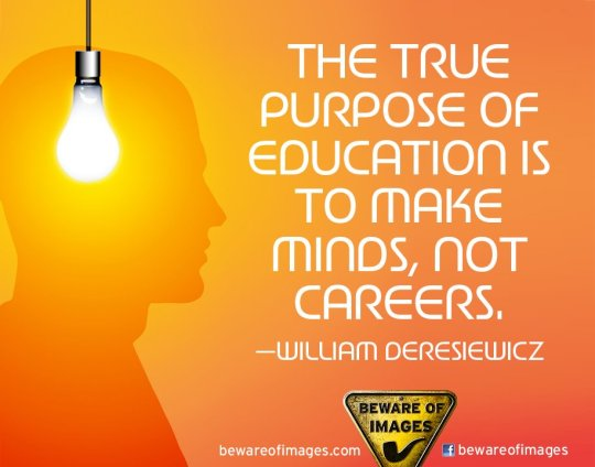 What is the porupose of education